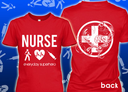 Nurse Women everyday superhero t-shirt